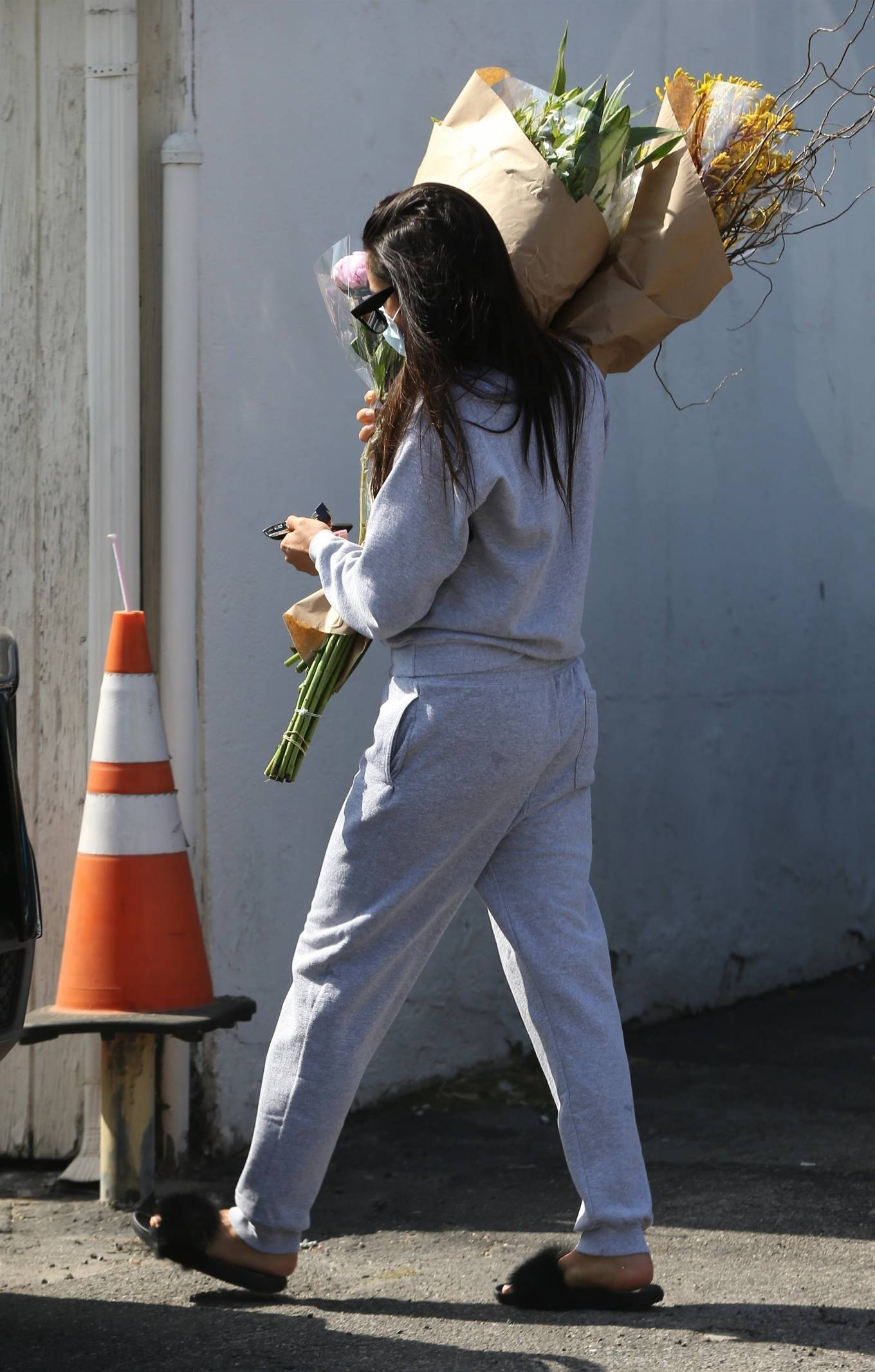 Shay Mitchell 2020 : Shay Mitchell – Buys a few bouquets of flowers in West Hollywood-02