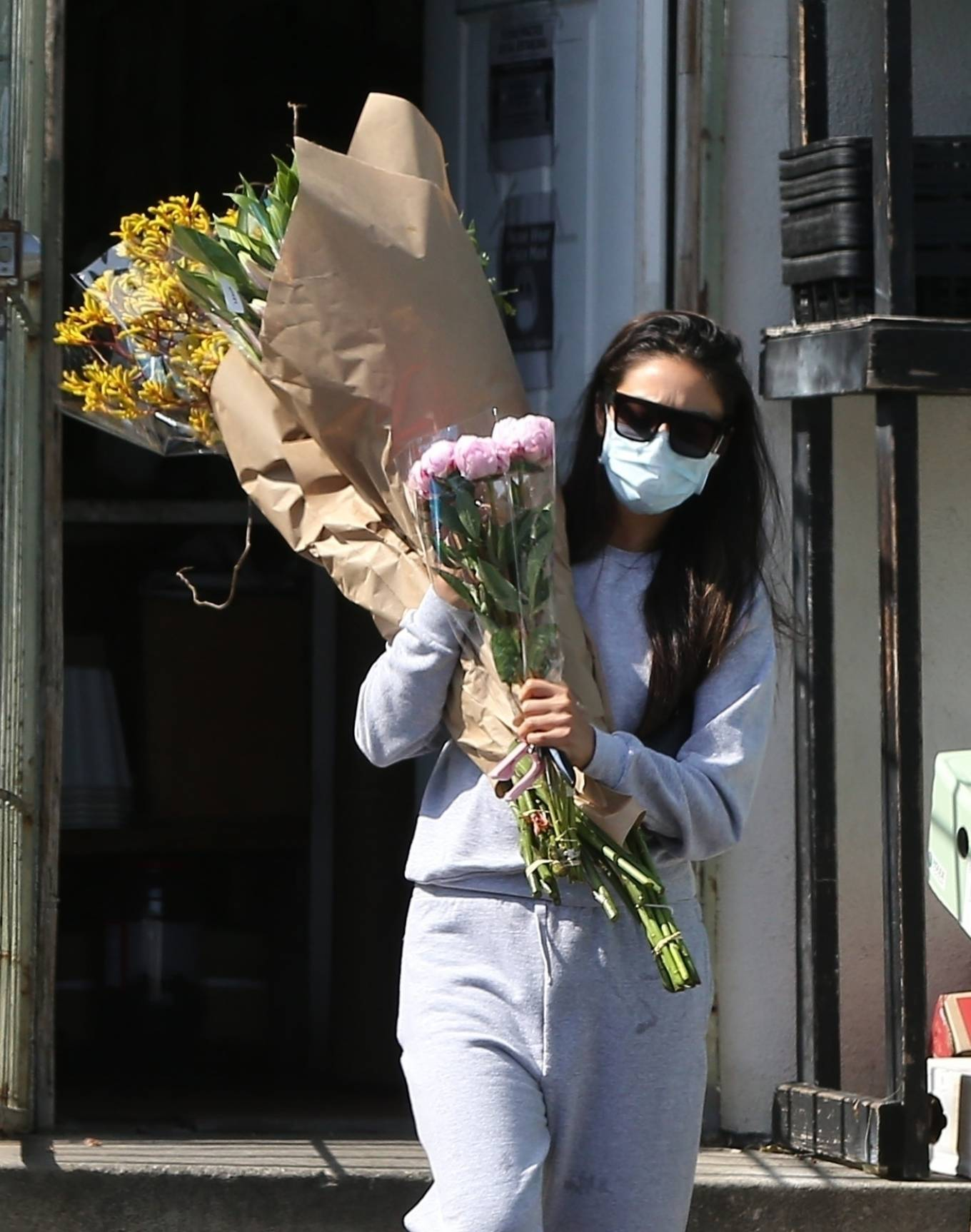 Shay Mitchell 2020 : Shay Mitchell – Buys a few bouquets of flowers in West Hollywood-07