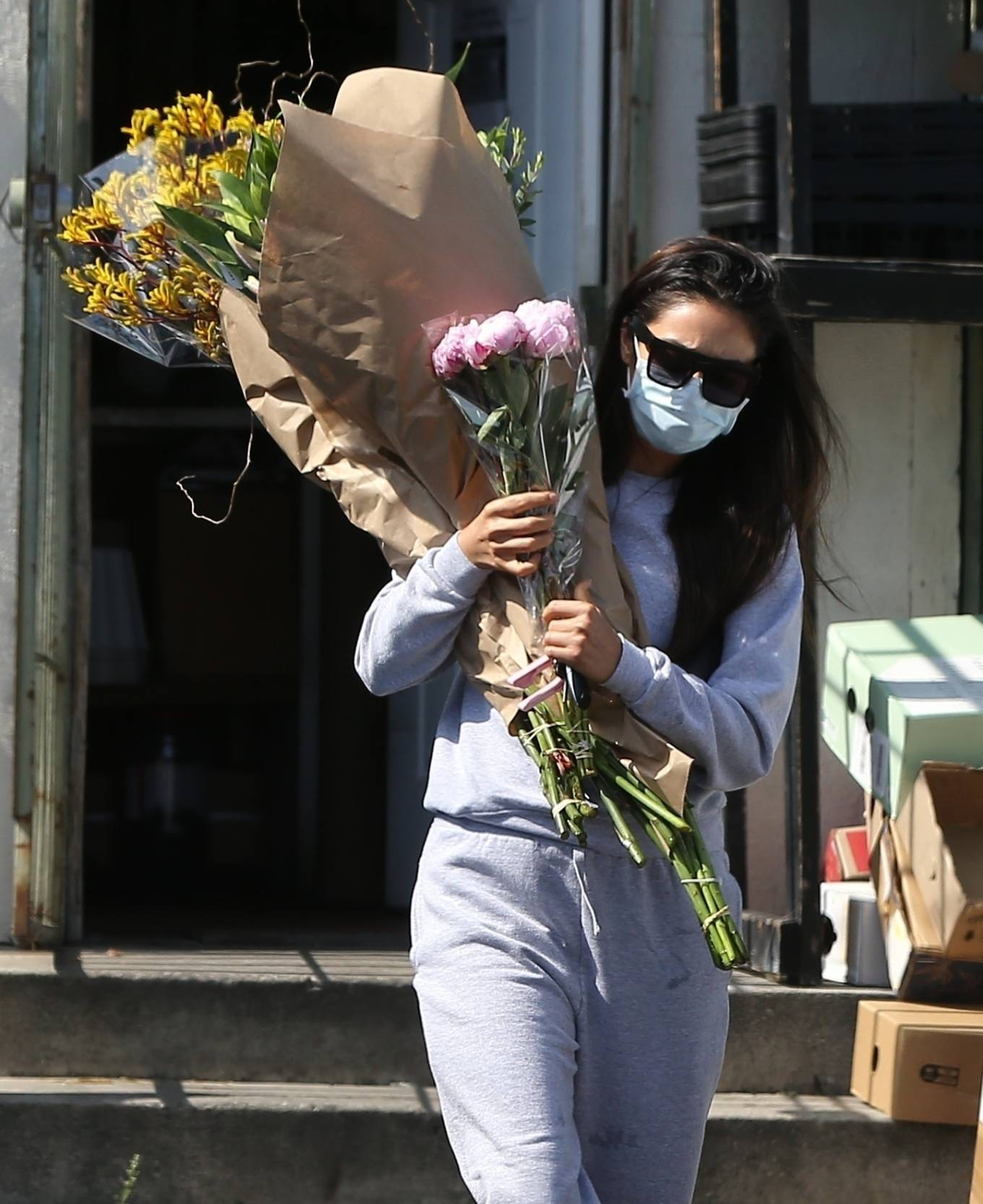 Shay Mitchell 2020 : Shay Mitchell – Buys a few bouquets of flowers in West Hollywood-08