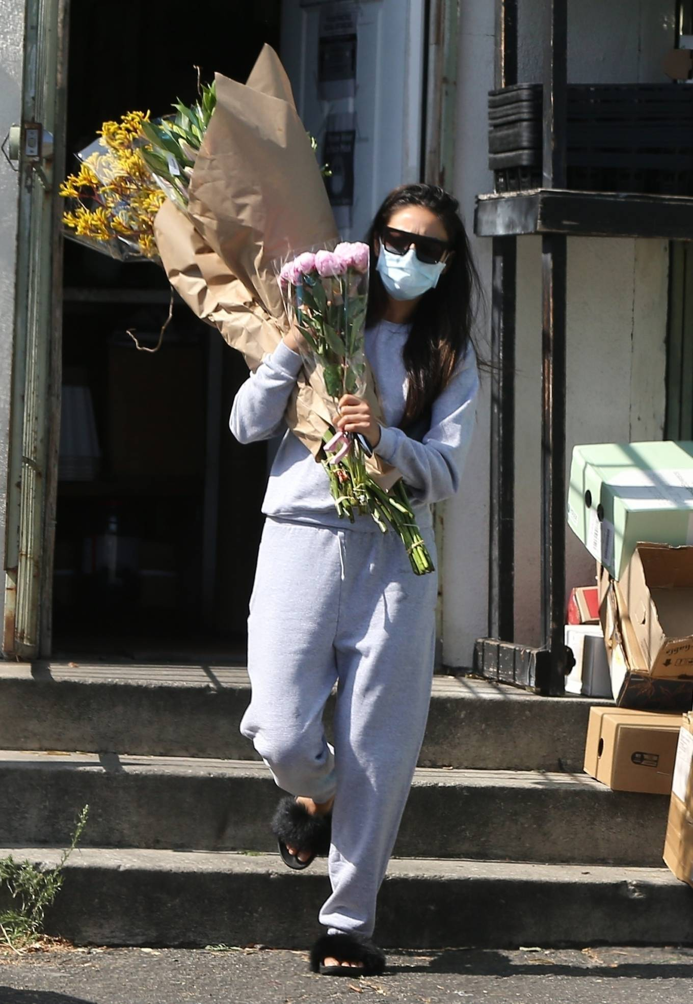 Shay Mitchell 2020 : Shay Mitchell – Buys a few bouquets of flowers in West Hollywood-14