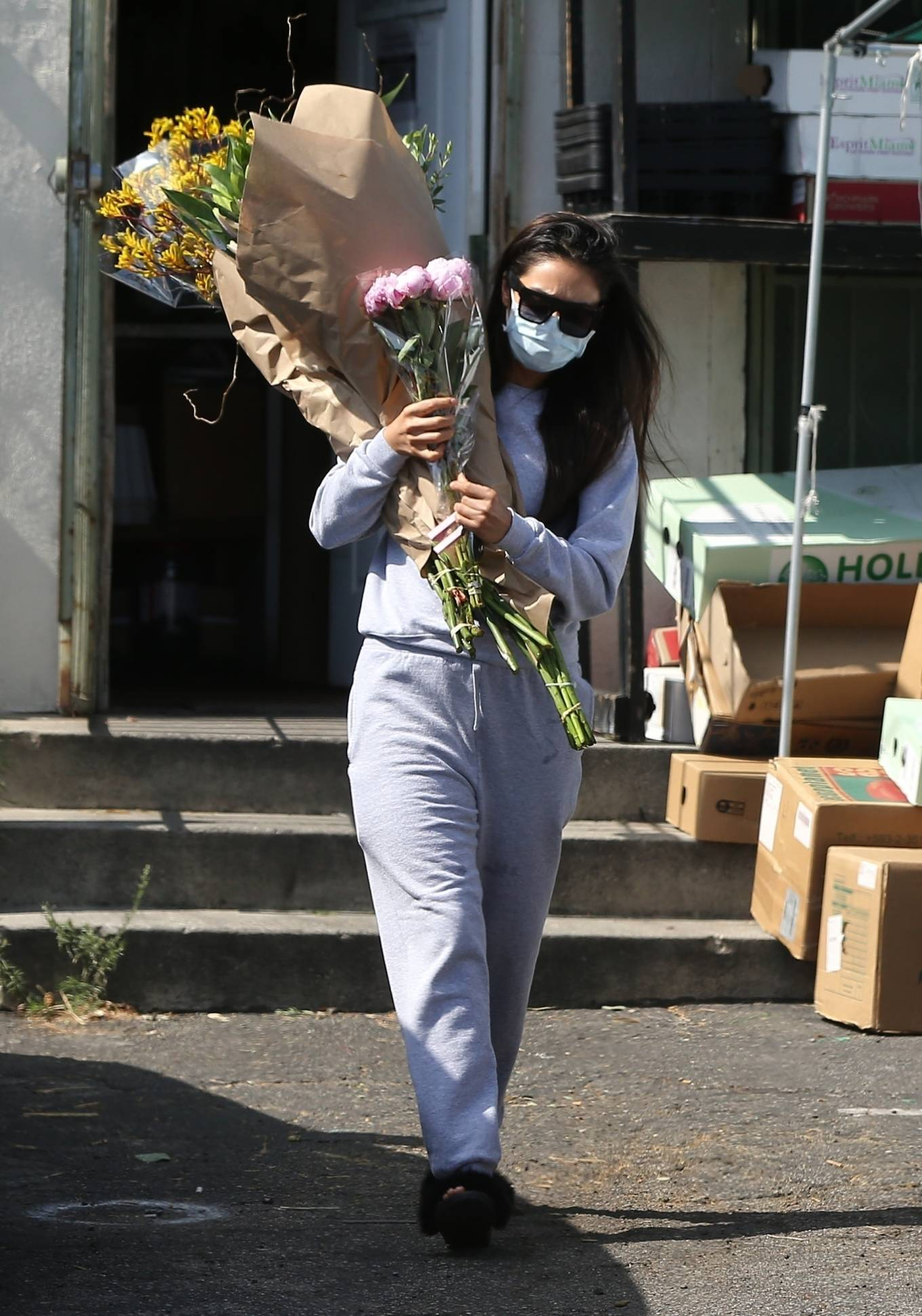 Shay Mitchell 2020 : Shay Mitchell – Buys a few bouquets of flowers in West Hollywood-15