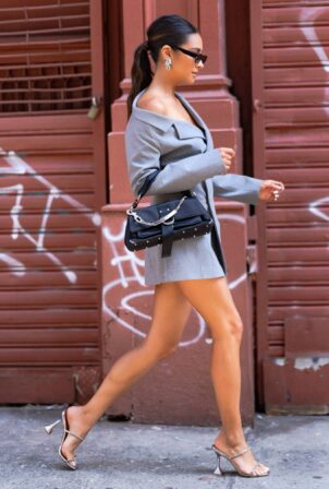 Shay Mitchell - Dons stylish look in New York City