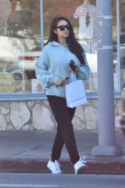 Shay Mitchell - goes out for a morning coffee in Studio City