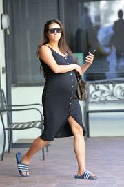 Shay Mitchell in Black Dress - Out in Beverly Hills