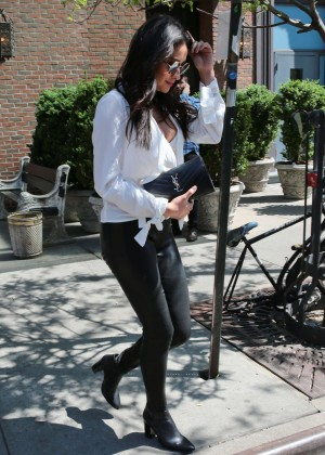 Shay Mitchell in Leather Pants -16