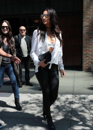 Shay Mitchell in Leather Pants -17