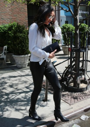Shay Mitchell in Leather Pants -20