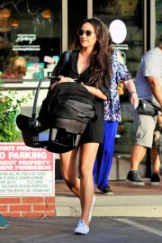 Shay Mitchell in Mini Dress - Shopping in Los Angeles