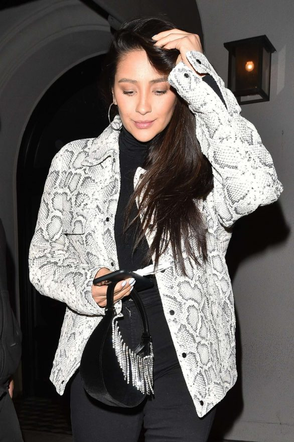 Shay Mitchell in Snake Print Jacket - Out in Los Angeles