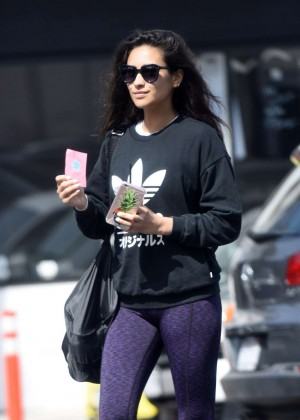 Shay Mitchell in Tights out in Los Angeles