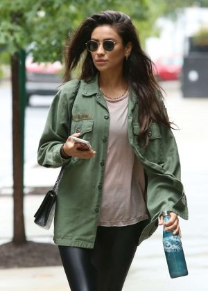 Shay Mitchell in Tights - Out in New York