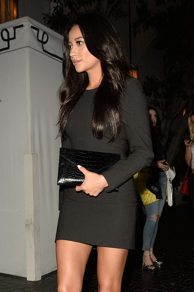 Shay Mitchell - Leaves a Party for Elizabeth and James Store in Los Angeles