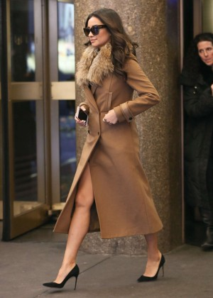 Shay Mitchell - Leaves her Hotel in NY
