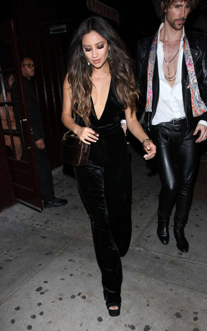 Shay Mitchell Leaves the Peppermint club in West Hollywood