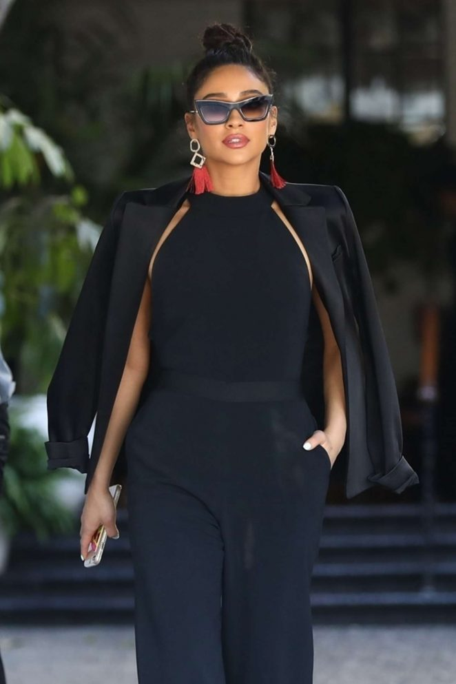 Shay Mitchell - Leaving the CFDA Luncheon in Los Angeles