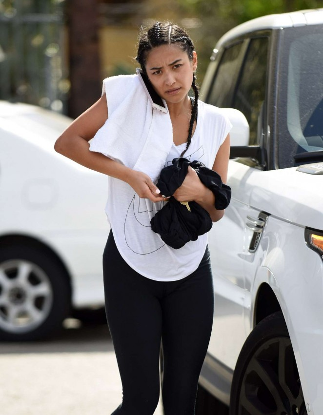 Shay Mitchell - Leaving the gym in Los Angeles