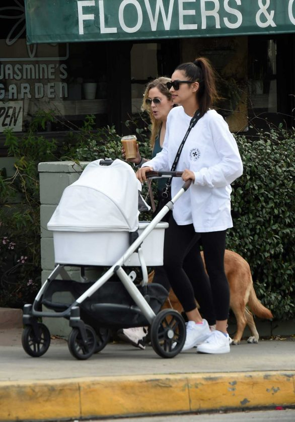 Shay Mitchell - Out with her daughter in LA