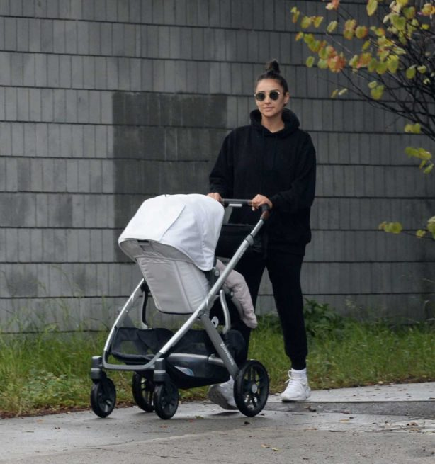 Shay Mitchell - Out with her family in Los Angeles