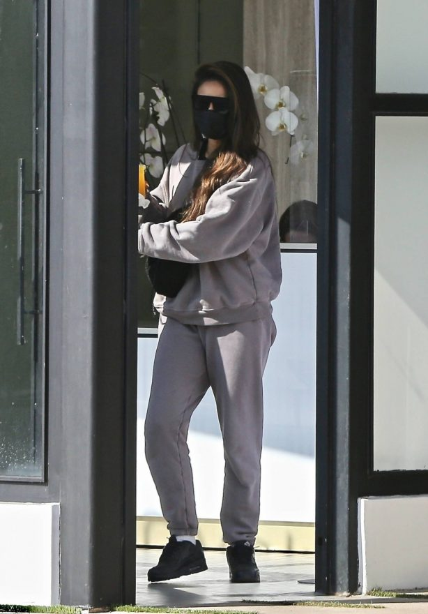 Shay Mitchell - Seen at P.volve fitness studio in West Hollywood