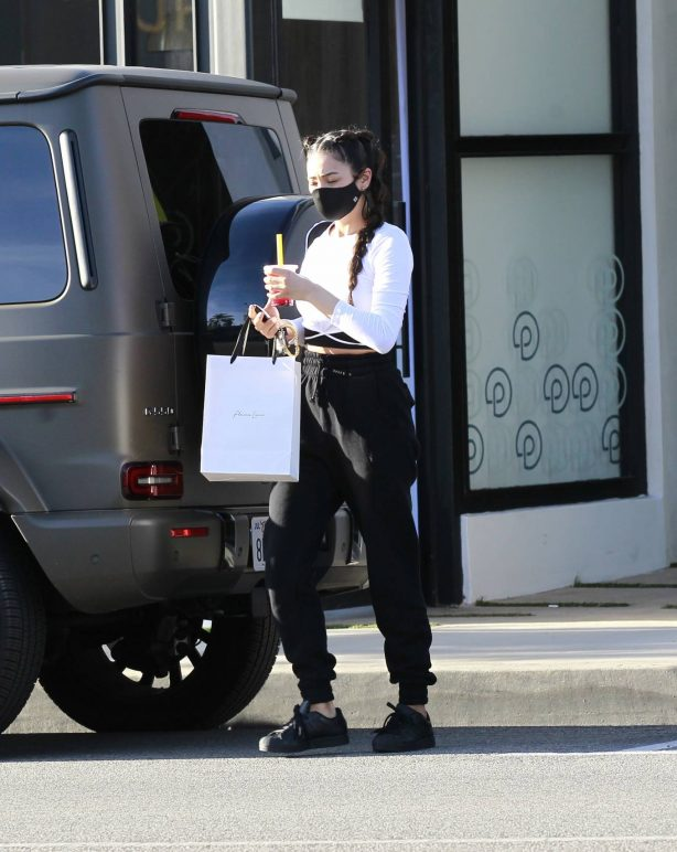 Shay Mitchell - Seen leaving a salon in Los Angeles