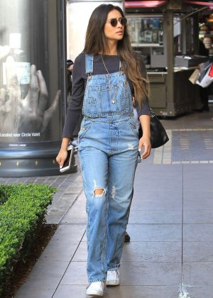 Shay Mitchell Shopping with her mother at The Grove in LA