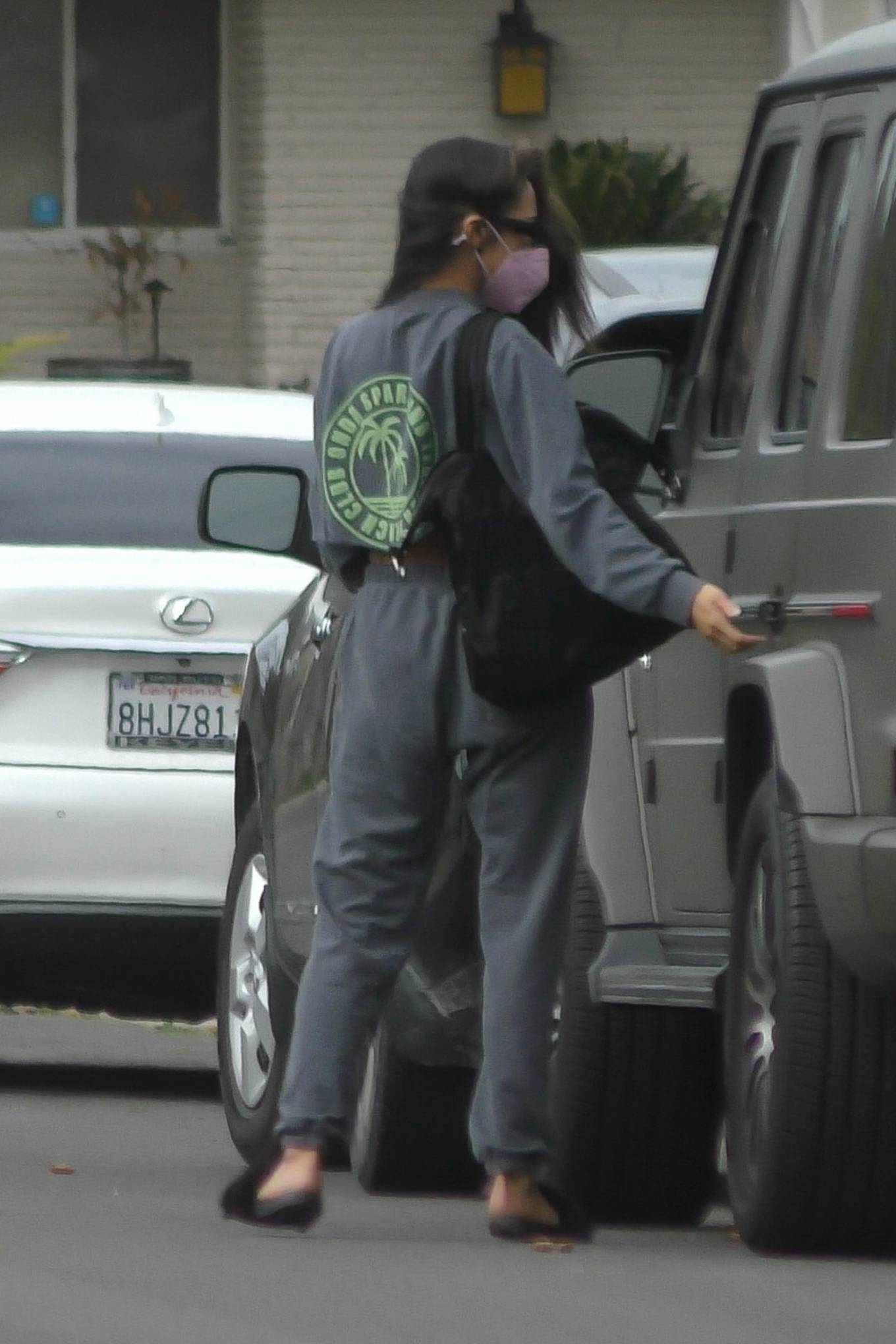 Shay Mitchell - Stops by her friend's house in Los Angeles