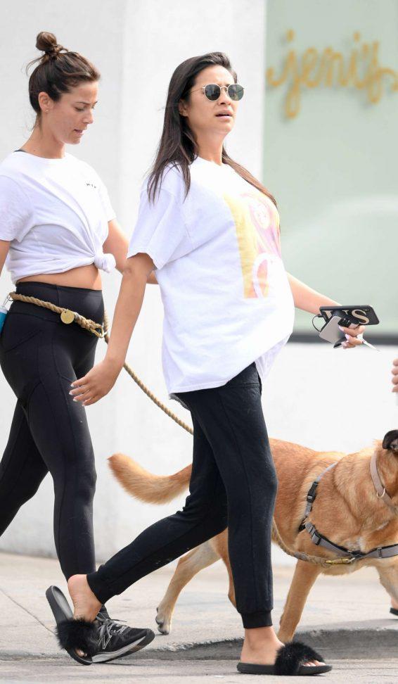 Shay Mitchell - wears a vintage Britney Spears in Los Feliz