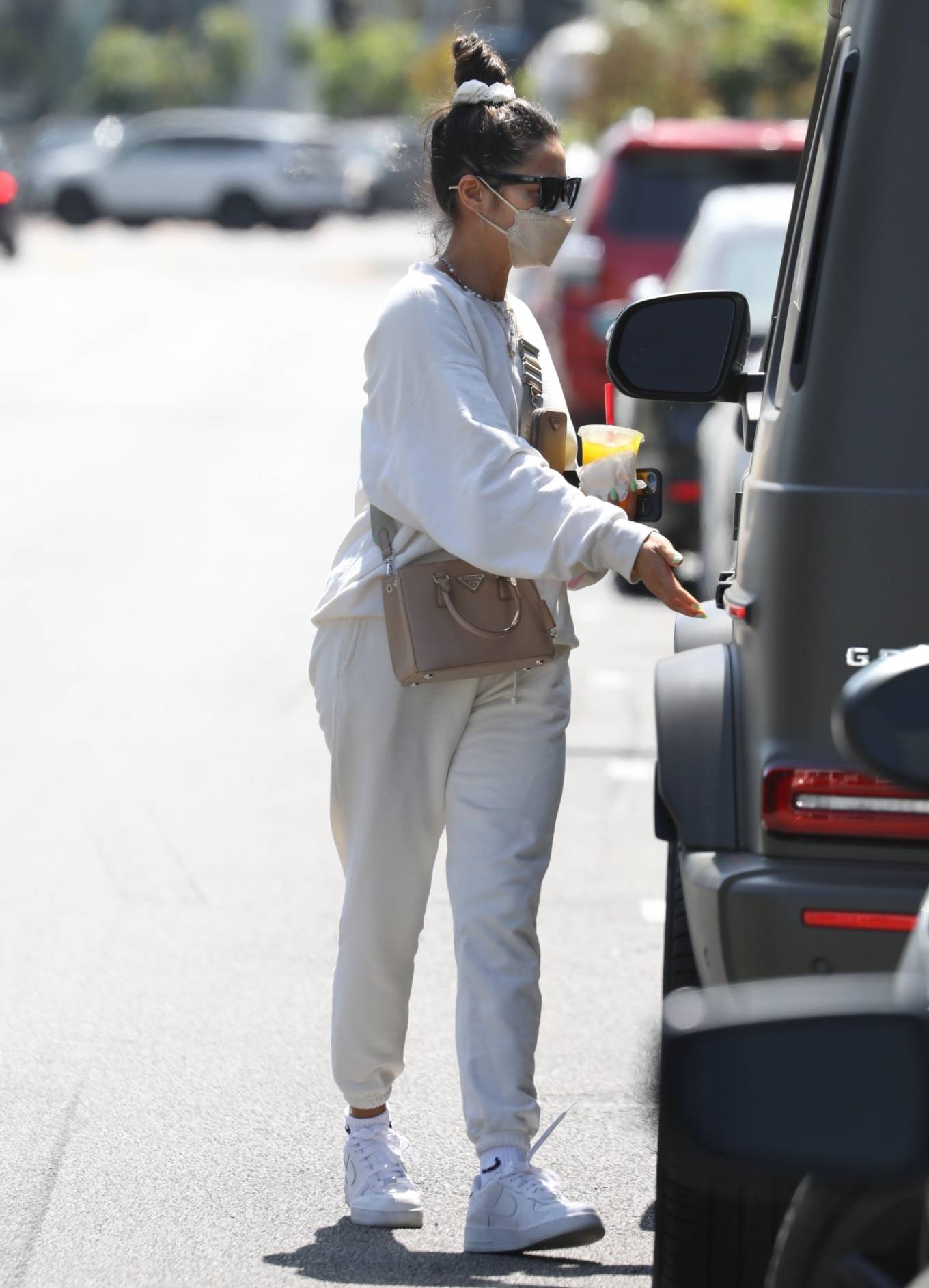 Shay Mitchell - Wears sweats after workout session in West Hollywood
