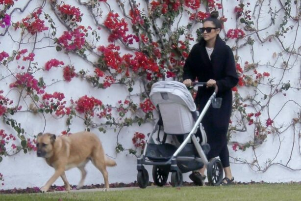 Shay Mitchell - With Matte Babel with their daughter Atlas Noa near their home in Los Feliz