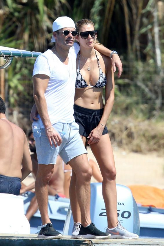 Shayna Taylor and Ryan Seacrest - Spotted enjoying their summer vacation in Positano - Italy