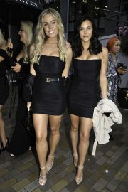 Shelby Tribble and Chloe Meadows at Menagerie bar in Manchester