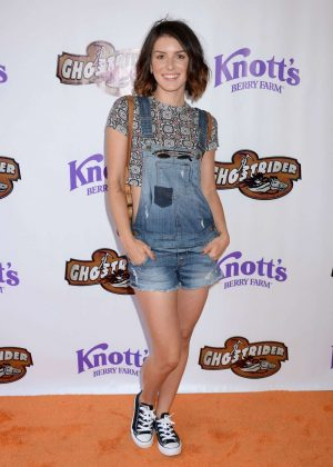 Shenae Grimes - GhostRider Reopening at Knott's Berry Farm in Buena Park
