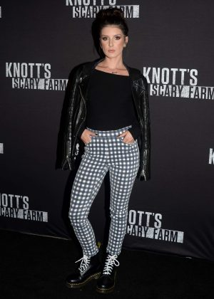 Shenae Grimes - Knott's Scary Farm Opening Night in Los Angeles