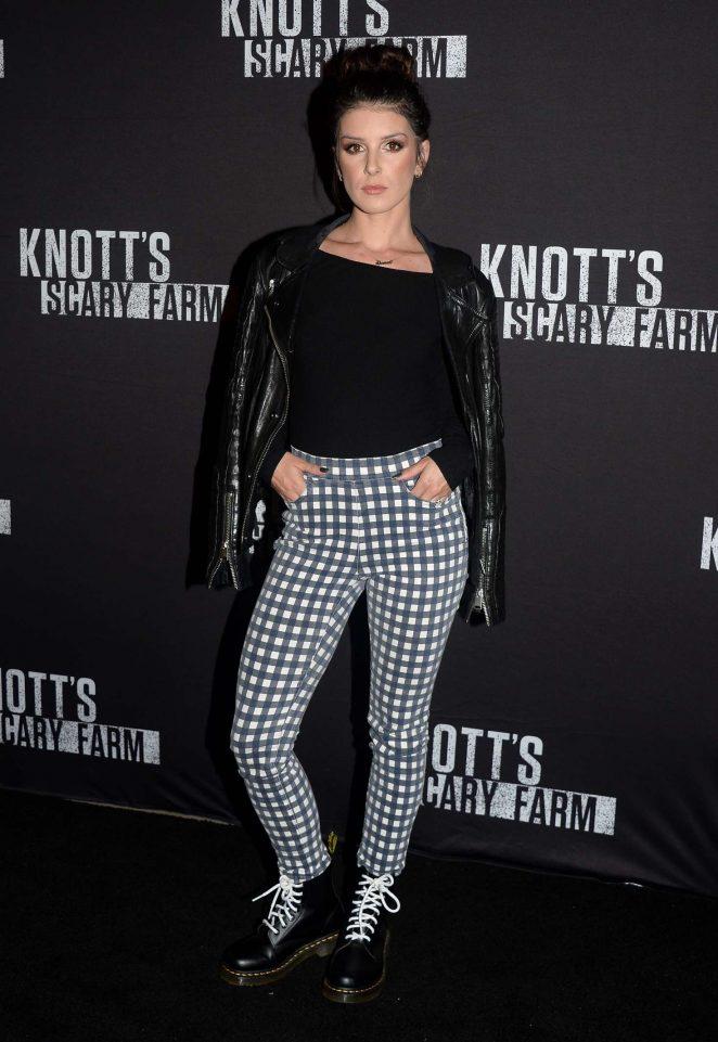 Shenae Grimes - Knott's Scary Farm Opening Night in Los Angeles
