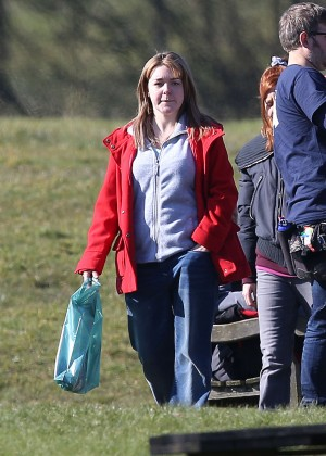 Sheridan Smith - Filming Moorside project based in Leeds