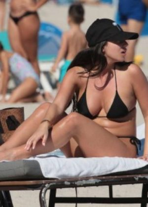 Shira Yaakov in Bikini at the beach in Miami