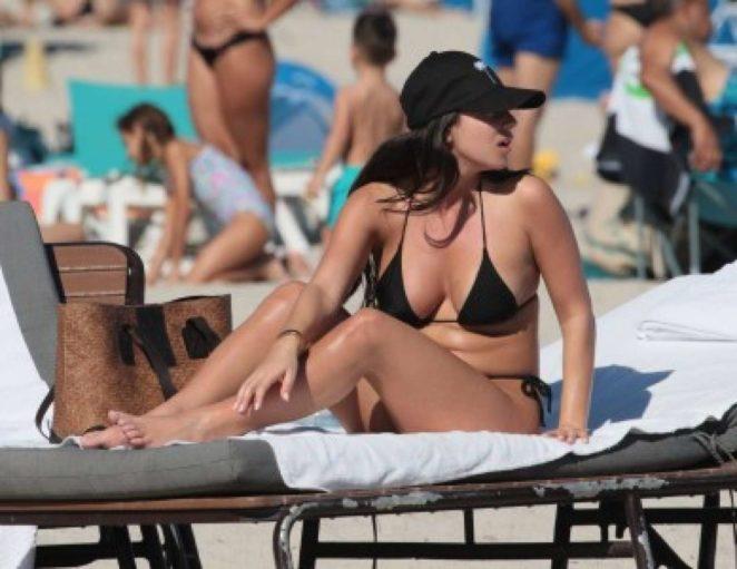 Shira Yaakov in Bikini at the beach in Miami