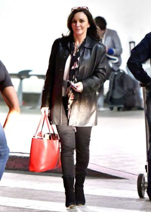 Shirley Ballas - Arriving to LAX Airport in Los Angeles