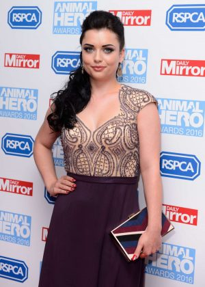 Shona McGarty - 2016 Daily Mirror and RSPCA Animal Hero Awards in London