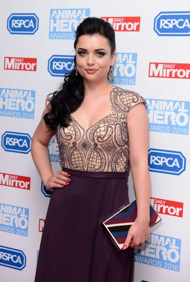 Shona McGarty – 2016 Daily Mirror and RSPCA Animal Hero Awards in London