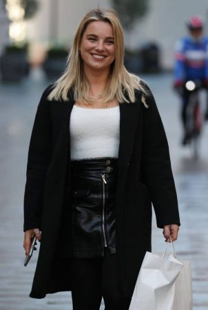 Sian Welby - All smiles at Global Offices in London