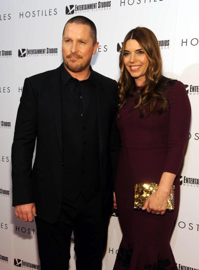 Sibi Blazic and Christian Bale - 'Hostiles' Premiere in New York