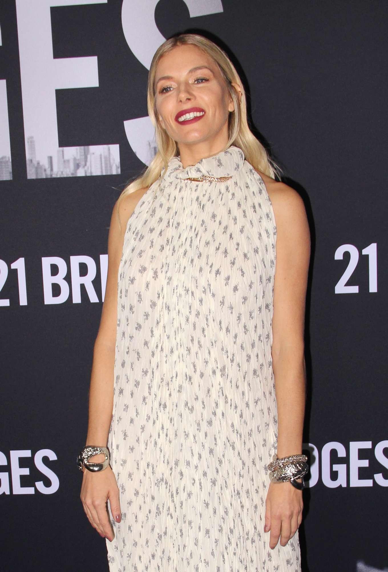 Sienna Miller - '21 Bridges' Screening in New York