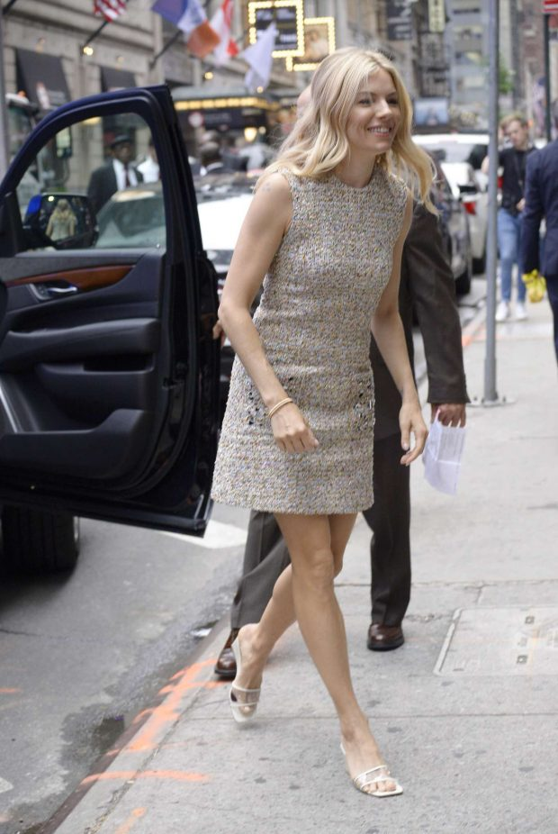 Sienna Miller: All smiles as she arrives at the Good Morning in New York-02
