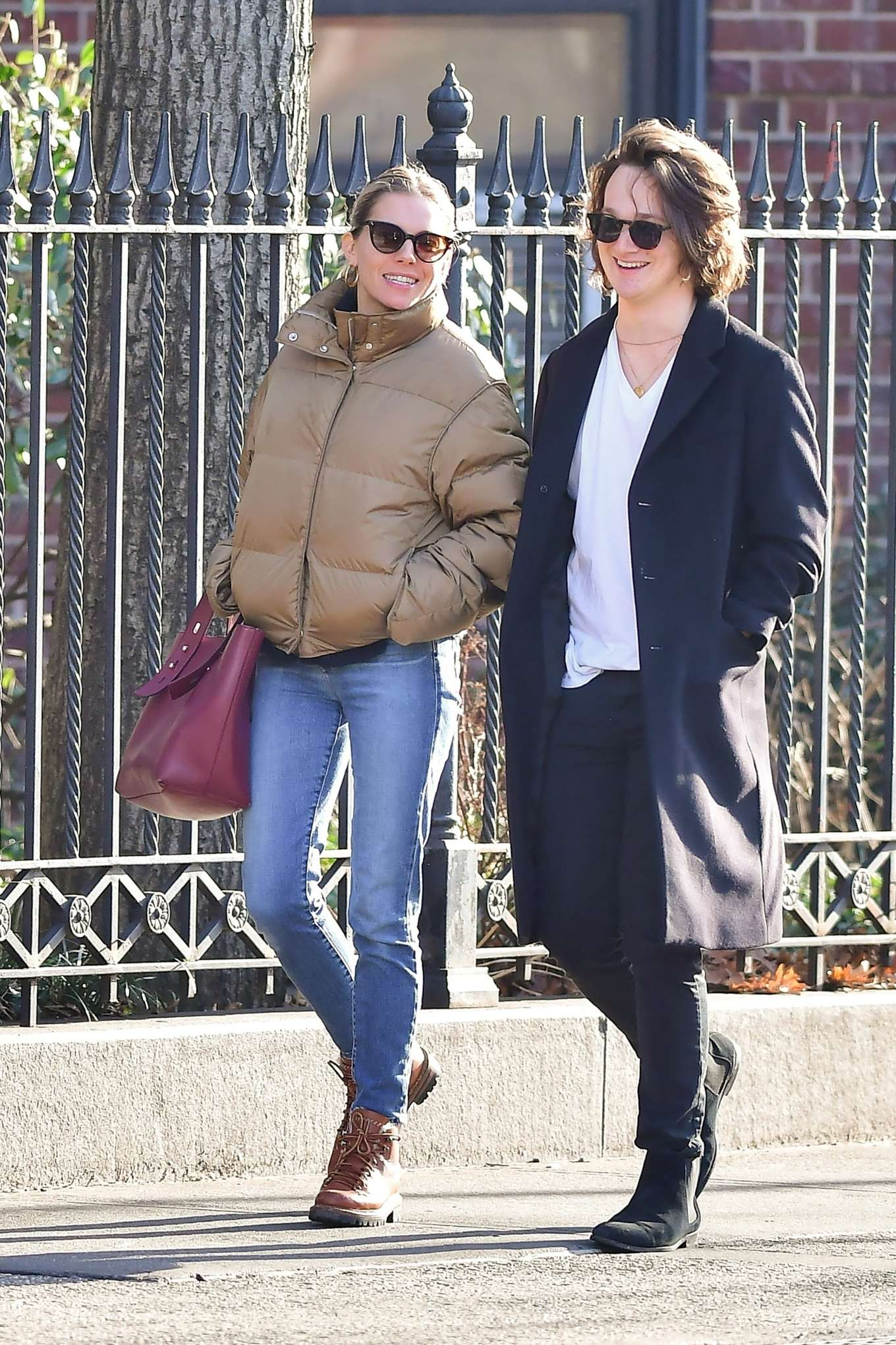 Sienna Miller and Lucas Zwirner - Out for a walk in New York