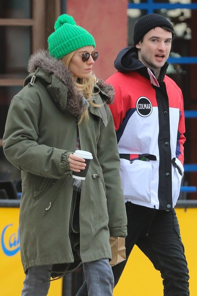 Sienna Miller and Tom Sturridge out for coffee in NYC