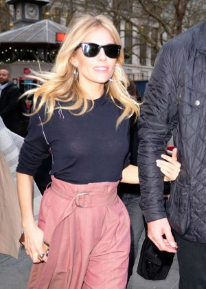 Sienna Miller - Arrives at Capital FM in Leicster Square