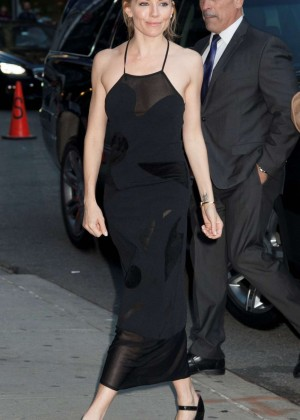 Sienna Miller - Arrives at The Late Show with Stephen Colbert in NYC
