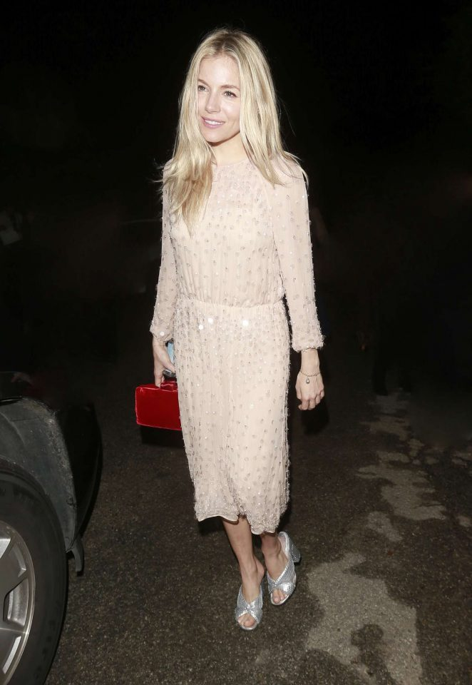 Sienna Miller - Arrives at WME Talent Agency Party in Los Angeles