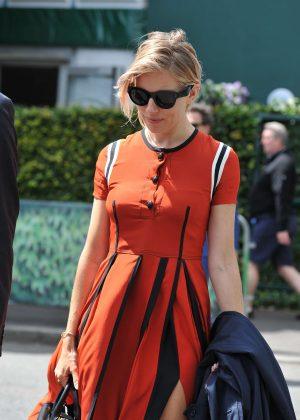 Sienna Miller - Arriving at 2016 Wimbledon Championships in London